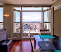 View from Victoria condo dining room Juliet suite 1203