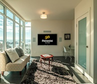Promontory fully furnished living room flatscreen TV, views