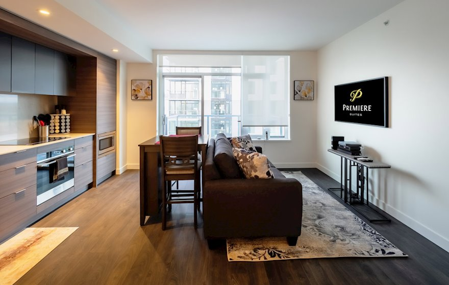 Yates on Yates #1404 Fully Furnished Suite Living Area